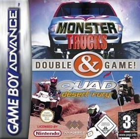 2 Games in 1: Quad Desert Fury + Monster Trucks - Box - Front