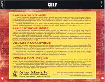 Fantastic Voyage - Box - Back
