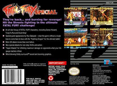 Fatal Fury Special - Box - Back