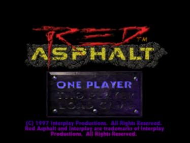 Red Asphalt - Screenshot - Game Title