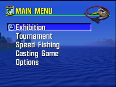 Bassmasters 2000 - Screenshot - Game Select