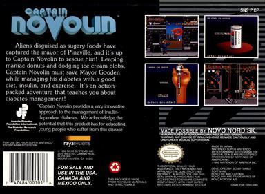 Captain Novolin - Box - Back