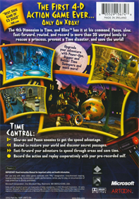 Blinx: The Time Sweeper - Box - Back