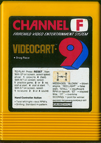 Videocart-9: Drag Strip - Cart - Front