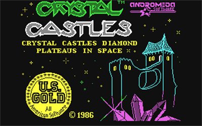 Crystal Castles: Diamond Plateaus in Space - Screenshot - Game Title