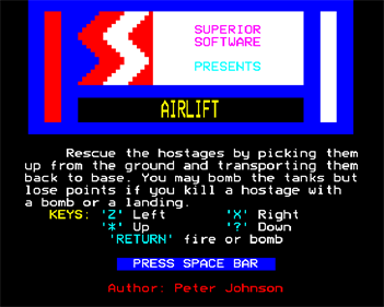 Airlift - Screenshot - Game Title