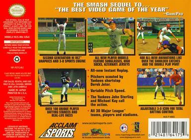 All-Star Baseball 2000 - Box - Back