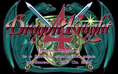 Dragon Knight 4 - Screenshot - Game Title