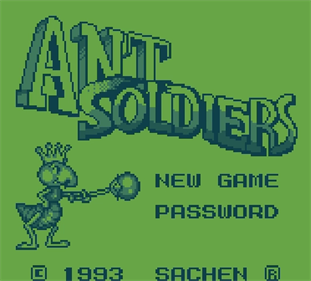 Ant Soldiers - Screenshot - Game Title