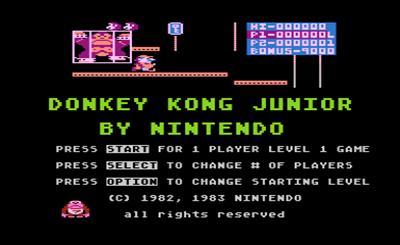 Donkey Kong Junior - Screenshot - Game Title