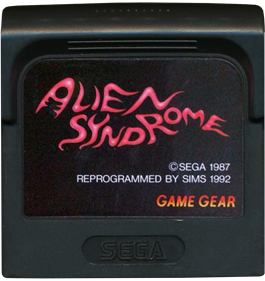 Alien Syndrome - Cart - Front