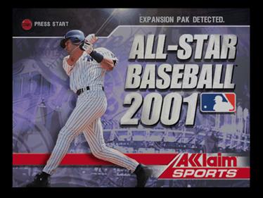 All-Star Baseball 2001 - Screenshot - Game Title