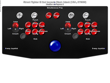 Street Fighter III 2nd Impact: Giant Attack - Arcade - Controls Information