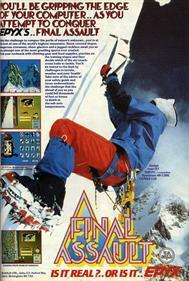 Final Assault - Advertisement Flyer - Front