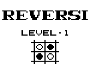 Reversi - Screenshot - Game Title