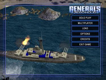 Command & Conquer: Generals: Zero Hour - Screenshot - Game Select
