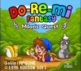DoReMi Fantasy: Milon no DokiDoki Daibouken - Screenshot - Game Title