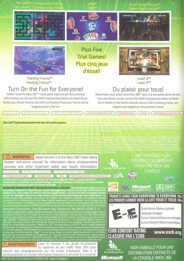 Xbox 360 arcade games