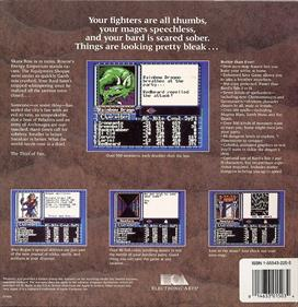 The Bard's Tale III: Thief of Fate - Box - Back