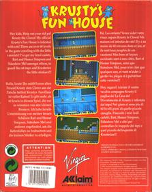 Krusty's Fun House - Box - Back