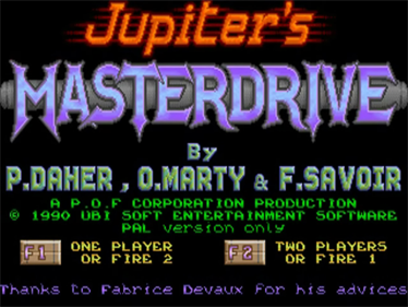 Jupiter's Masterdrive - Screenshot - Game Title