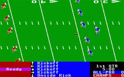 4th & Inches - Screenshot - Gameplay