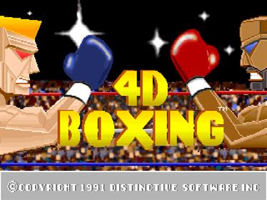 4-D Boxing - Screenshot - Game Title
