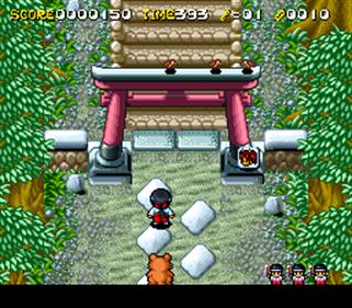 Pocky & Rocky 2 - Screenshot - Gameplay