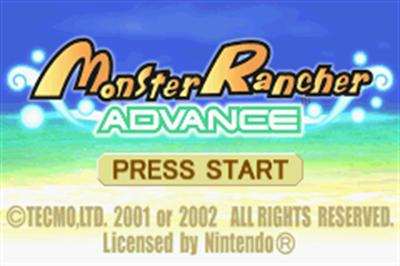 Monster Rancher Advance - Screenshot - Game Title