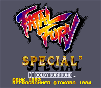 Fatal Fury Special - Screenshot - Game Title
