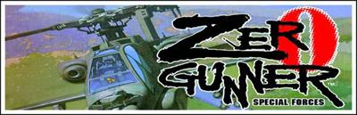 Zero Gunner - Arcade - Marquee