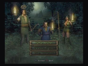 Baldur's Gate: Dark Alliance - Screenshot - Game Select