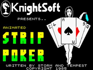 Animated Strip Poker  - Screenshot - Game Title