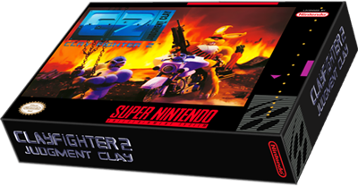 C2 Judgment Clay: Clay Fighter 2 - Box - 3D