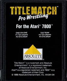 Title Match Pro Wrestling - Cart - Front