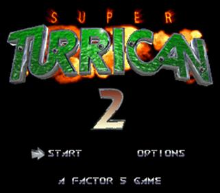 Super Turrican 2 - Screenshot - Game Title