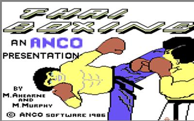 Thai Boxing - Screenshot - Game Title