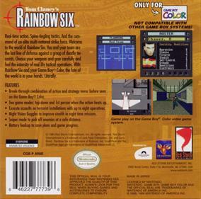 Tom Clancy's Rainbow Six - Box - Back