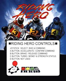 Riding Hero - Arcade - Controls Information