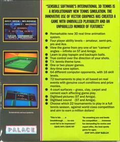 International 3D Tennis - Box - Back