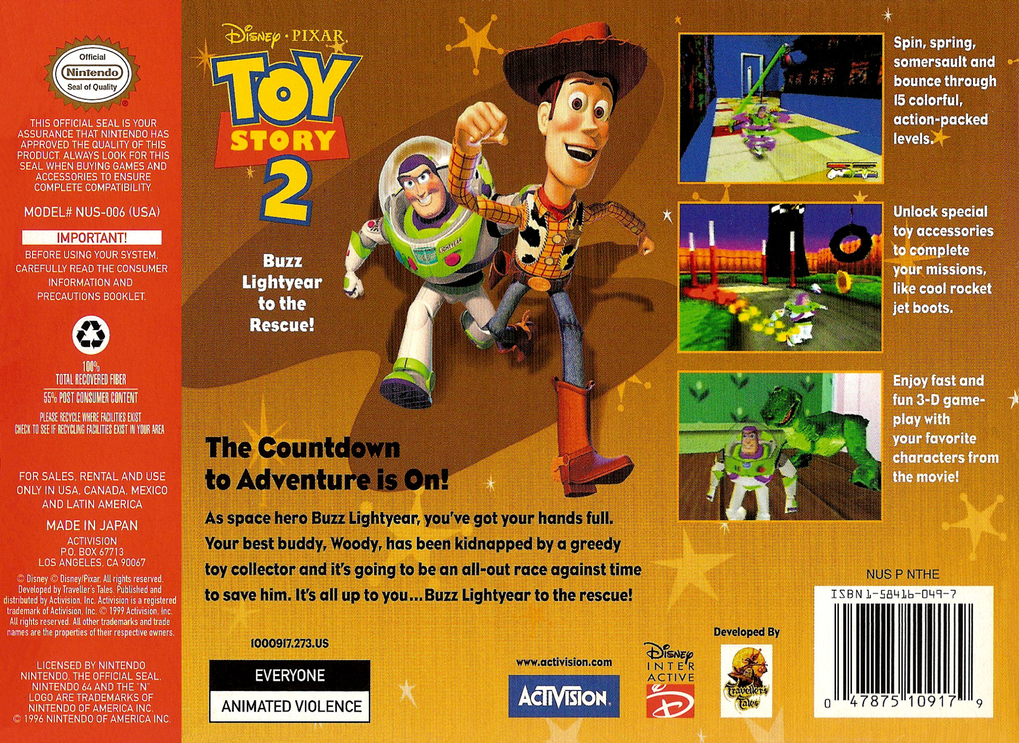 Toy Story Games Woody To The Rescue : Toy story buzz lightyear to the rescue details