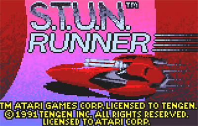 S.T.U.N. Runner - Screenshot - Game Title