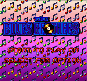 The Blues Brothers - Screenshot - Game Title