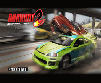 Burnout 2: Point of Impact - Screenshot - Game Title