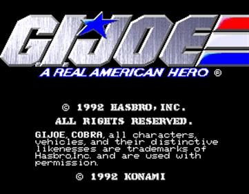 G.I. Joe - Screenshot - Game Title