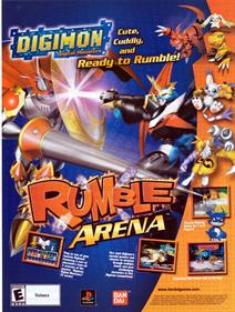 Digimon Rumble Arena - Advertisement Flyer - Front