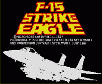 F-15 Strike Eagle - Screenshot - Game Title