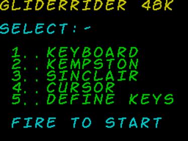 Glider Rider - Screenshot - Game Select