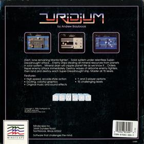 Uridium - Box - Back
