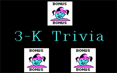 3-K Trivia - Screenshot - Game Title